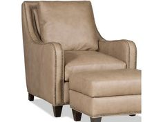 Shop for the Bradington Young Greco Transitional Chair with Curved Track Arms and All-Over Nailheads at Story & Lee Furniture - Your Leoma, Lawrenceburg TN and Florence, Athens, Decatur, Huntsville AL Furniture & Mattress Store Glider Recliner Chair, Glider Rocking Chair, Rocking Chair Nursery, Chair And Ottoman, Upholstered Chairs, Armchair, Blue Leather Chair, Transitional Chairs, Queen Anne Chair