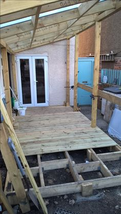 Decking floor and frame in progress