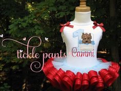 Wizard of Oz Birthday Tutu Outfit Toto in basket by TicklePants