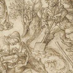 De kinderen van Saturnus, Meester van het Amsterdamse Kabinet, 1470…
