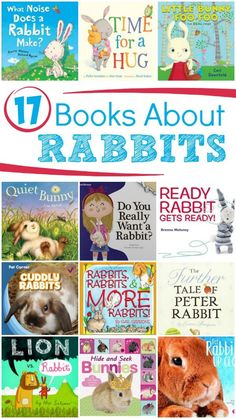 Fiction and Nonfiction Books About Rabbits...These are great to read around Easter!