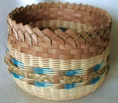 "Nests inside Little Sparrow Basket Pattern  $3.50 - By Ann Snider  $5.50 - Woven with an 8"" Round Double Slotted Base. Contact us on BasketBees.com to purchase this pattern and slotted basket base."