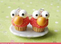 cupcake elmo earrings!