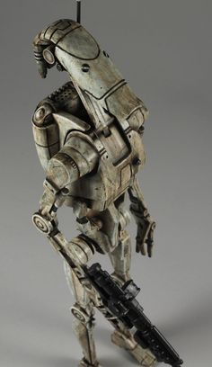 This is a figure from StarWars Episode that I purchased in Its been patiently awaiting its repaint in his box in my basemen. Star Wars Jokes, Star Wars Facts, Star Wars Clone Wars, Star Trek, Sunday Movies, Trade Federation, Starwars, Star Wars Droids, Battle Droid