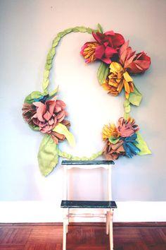 Floral Wreath Photo Backdrop