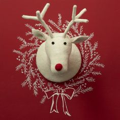 Reindeer Head Wall Decor