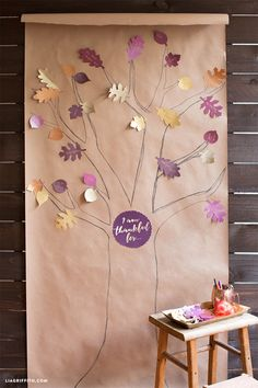 #Thanksfultree #Thanksgivingactivity #Thanksgivingdecor www.LiaGriffith.com: