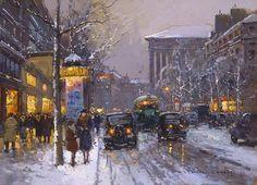 Boulevard de la Madeleine, Winter - Edouard Cortes - WikiArt.org