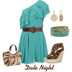Love the turquoise dress.