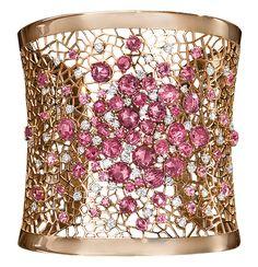 Cellini Jewelers, pink sapphires, diamonds, 18-karat rose gold