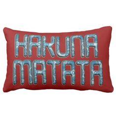 #createyourown #customize - #Beautiful Hakuna Matata lovely Cotton Design motif Lumbar Pillow
