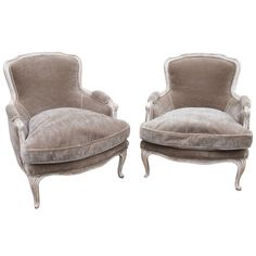 Pair French Louis XIV Bergere chairs | From a unique collection of antique and modern bergere chairs at http://www.1stdibs.com/furniture/seating/bergere-chairs/