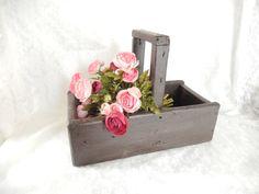antique wooden basket trug vintage home decor kitchen by brixiana