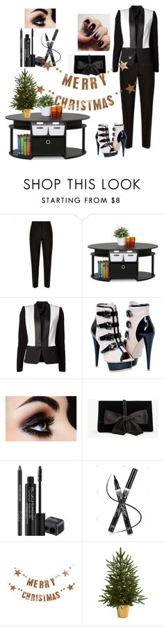 """""""Christmas suit"""" by janeellie ❤ liked on Polyvore featuring Jaeger, Furinno, Cut25, Ann Taylor, Rodial, Bloomingville and Nearly Natural"""