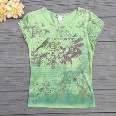 """Nature Graphic Tee Super cute graphic tee which says """"Eco couture"""" on it • vintage suzie • 100% cotton Vintage Suzie Tops Tees - Short Sleeve"""