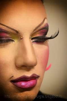 Workshop Drag Queen make-up - Dimostrazione trucco by Stefania D' Alessandro