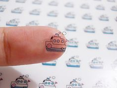 CLEAR Ferry Boat Planner Stickers, Boat Stickers, Ocean Liner Stickers, Ship Stickers, Travel Stickers, Transport Stickers (st204#) by CENTERPATCH on Etsy