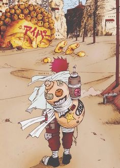 Idk how to explain wtf is going on here but it's gaara, so. Dope.