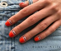 Suzi Nail Nail Polish Strips: How to Use Nail Striping Tape with Gel Polish?, Nail Polish Strips: How to Use Nail Striping Tape with Gel Polish? Matte Nails, Pink Nails, Glitter Nails, Acrylic Nails, Red Glitter, Oval Nails, Sparkle Nails, Orange Nails, Glitter Art