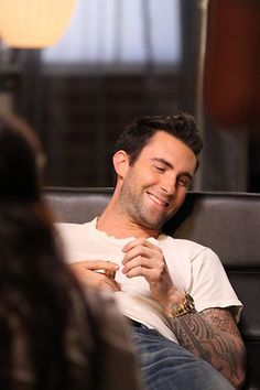 Adam Levine in between rehearsals. #TheVoice