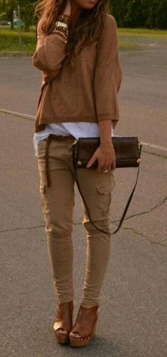 spring outfit- someone please tell me where to get these skinny cargos!!!!!!...?