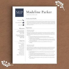 Professional Resume Template for Word   1, 2 and 3 Page Resume Template + Cover Letter + References + Icons   Creative Resume Template