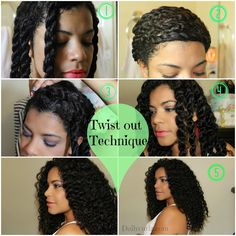DailyCurlz: Technique to battle Shrinkage on natural hair / Como combatir el encogimiento en el cabello rizado