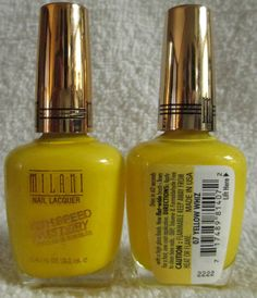 Milani High Speed Fast Dry Nail Polish Yellow Whiz #07 One Coat Lacquer Manicure