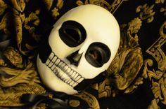 Skull Mask-  Mans Day of the Dead Mask - Dia De los Muertos Mens skeleton simplistic skull