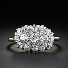 Victorian diamond cluster ring from the Lang Antiques' archives.