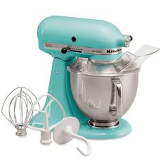 Tiffany blue kitchen aide mixer YES PLEASE! I nnnnneeeeedddd one of these Steven!!!