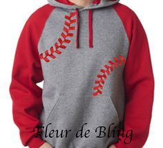 Baseball Hoodie. Baseball Mom Shirt. Baseball mom by FleurdeBling
