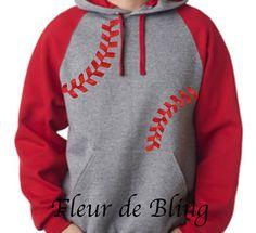 Baseball Hoodie. Baseball Mom Shirt. Baseball mom by FleurdeBling