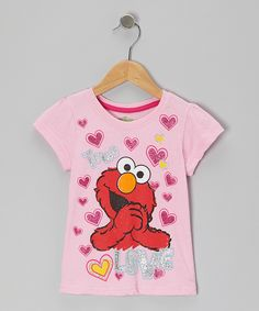 Take a look at this Pink Hearts 'Love' Elmo Tee - Toddler I bought at zulily today!