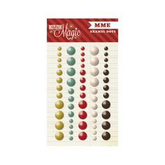 My Mind's Eye - Mistletoe Magic Collection - Christmas - Enamel Dots at Scrapbook.com