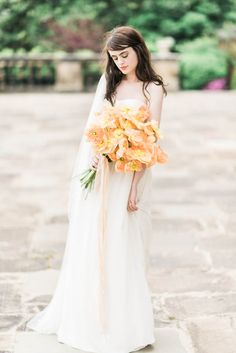 Photography: Elizabeth Fogarty at the The Little Workshop hosted by Michael and Carina Photography | Styling: Wit Weddings | Florals: White Magnolia Designs | Hair & Makeup: Lora Kelley | Attire: Laure de Sagazan | Ribbon: Silk and Willow
