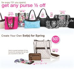 April's Purse & Last Chance Catalog Sale!!!  spend $31 = any purse 1/2 price!