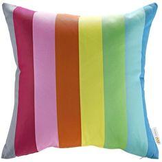 Modway Rainbow Fabric Non-Woven Outdoor Patio Pillow