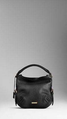 Medium Luggage Leather Hobo Bag | Burberry