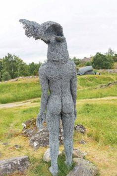 A sculpture by Sophie Ryder at Pilane Sculpture Park