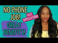 WON'T LAST! FULL TIME NO PHONE WORK FROM HOME JOB! GREAT BENEFITS! - YouTube Job Coaching, Flexible Working, Work From Home Jobs, Benefit, Phone, Youtube, Telephone, Mobile Phones, Youtubers