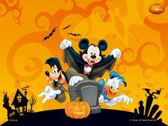 halloweenpictures | Un excelente wallpaper de: Disney halloween party : Tamaño 1024*768.
