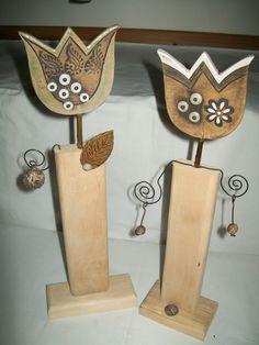 Chtěla bych kytku-tulipán velký Bottle Opener, Ceramics, How To Make, Decorations, Tulips, Sculpture, Wood, Pottery, Creative