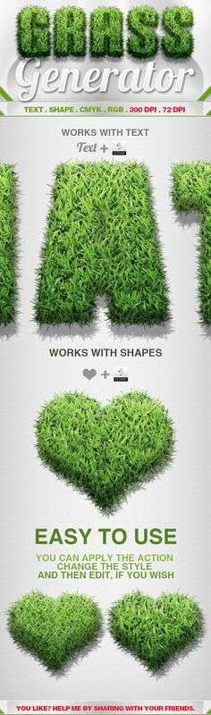 Grass Generator - Actions Photoshop