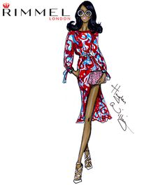 Rimmel London look 3 for LFW day 3. Lots of print seen today!