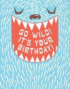 Wild Bday card by Anemone Letterpress on Postable.com