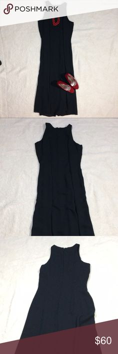 Ann Taylor Long Black Gown Perfect condition! Great for formal events! Falls a few inches above my ankles (I'm 5'7) Ann Taylor Dresses