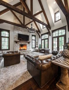 Home Decor Inspiration 12 Timber Frames That Will Make You Want to Snuggle by a Fire - Timber Frame HQ.Home Decor Inspiration 12 Timber Frames That Will Make You Want to Snuggle by a Fire - Timber Frame HQ House Design, House, Rustic Home Design, Timber Frame Homes, Home, Timber Framing, A Frame Cabin, House Rooms, Rustic House