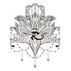 Lotus hamsa ✋ #tattooart #hamsa #hand #lotus #flower #beads #