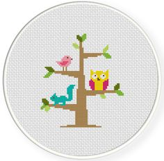 INSTANT DOWNLOAD Stitch Tree Dwellers PDF Cross Stitch Pattern Needlecraft  -----------------------------------------------------  Pattern:  Fabric: 14 count Aida  Stitches: 60*68  Size: Width: 4.29 Height: 4.86  11 DMC Colors  Use 2 strands of thread for cross stitch  2 PDFs Included  1 x Pattern in Color Blocks 1 x Pattern in Color Symbols  -----------------------------------------------------  Instant Download Info: You will be emailed a link to the downloads via Etsy. Also, PDFs are…
